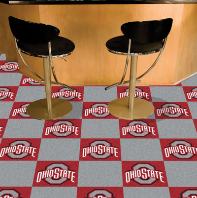 Ohio State Buckeyes Carpet Tiles   Fanmats   8509