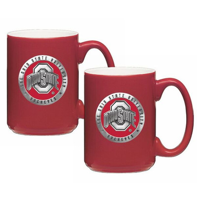 Ohio State Buckeyes Coffee Mug Set of 2 | Heritage Pewter | CM10175E