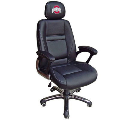 Ohio State Buckeyes Leather Office Chair   Wild Sports   901C-OSU