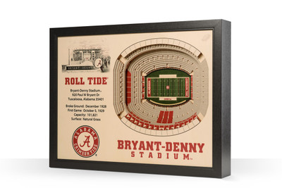Alabama Crimson Tide Framed 3-D Stadium Art | Stadium Views | 9022367