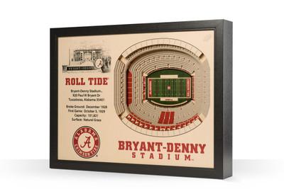 Alabama Crimson Tide Framed 3-D Stadium Art   Stadium Views   9022367