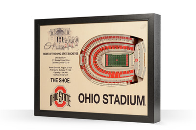Ohio State Buckeyes Framed 3-D Stadium Art | Stadium Views | 9022312