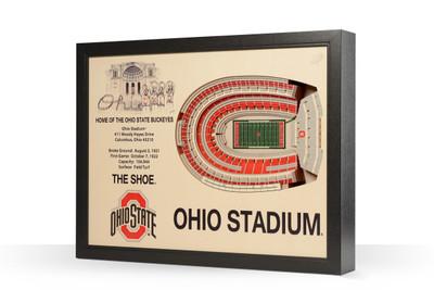 Ohio State Buckeyes Framed 3-D Stadium Art | Stadium Views | 9022312