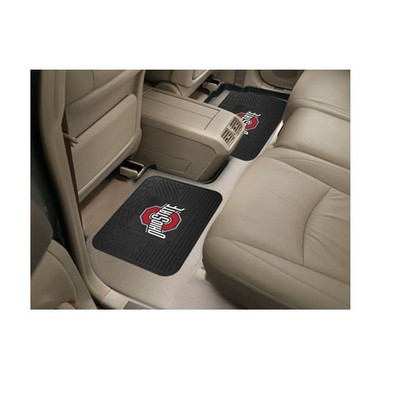 Ohio State Buckeyes Utility Car Mats  Set of Two   Fanmats   12266