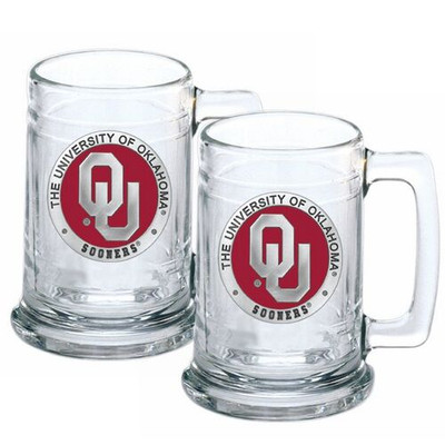 Oklahoma Sooners Beer Mug Set of Two | Heritage Pewter | ST10194E