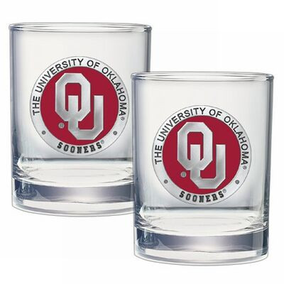Oklahoma Sooners Cocktail Glasses | Heritage Pewter | DOF10194E