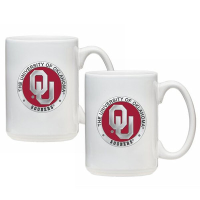 Oklahoma Sooners Coffee Mug Set of 2 | Heritage Pewter | CM10194E
