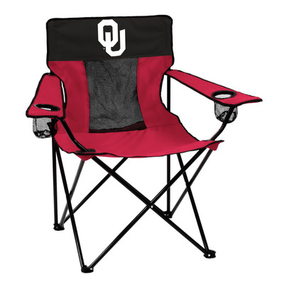 Oklahoma Sooners Elite Tailgate Chair   Logo Chair   192-12E-1