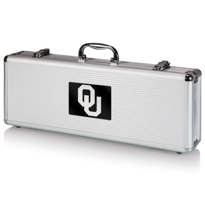 Oklahoma Sooners Grill Set   Picnic Time   681-00-179-453-0