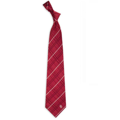 Oklahoma Sooners Oxford Woven Silk Tie | Eagles Wings | 4810