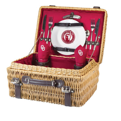 Oklahoma Sooners Champion Picnic Basket | Picnic Time | 208-40-100-454-0