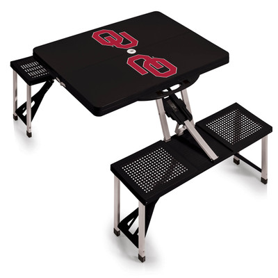 Oklahoma Sooners Folding Picnic Table | Picnic Time | 811-00-175-454-0