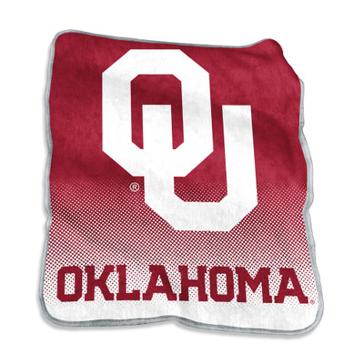 Oklahoma Sooners Raschel Throw Blanket | Logo Chair | 192-26A-1