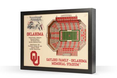 Oklahoma Sooners Framed 3-D Stadium Art   Stadium Views   9022381