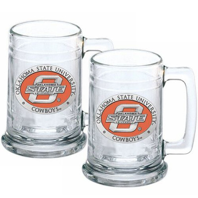 Oklahoma State Cowboys Beer Mug Set of Two | Heritage Pewter | ST10152E