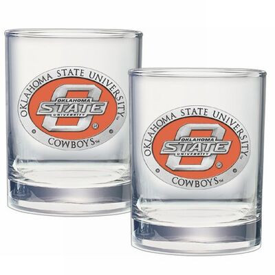 Oklahoma State Cowboys Cocktail Glasses | Heritage Pewter | DOF10152E