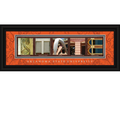 Oklahoma State Cowboys Letter Art | Get Letter Art | CLAL1B18OKSU