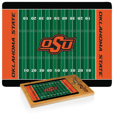 Oklahoma State Cowboys Icon Cheese Tray | Picnic Time | 910-00-505-464-0