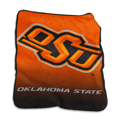 Oklahoma State Cowboys Raschel Throw Blanket | Logo Chair | 193-26A