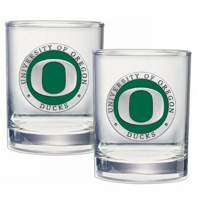 Oregon Ducks Cocktail Glasses | Heritage Pewter | DOF10169E