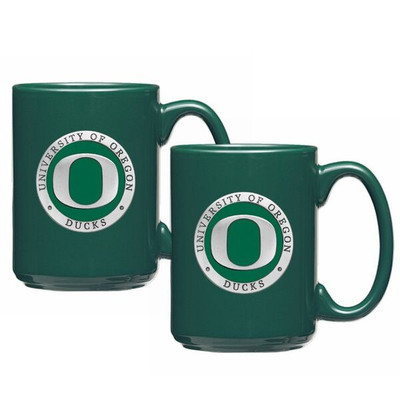 Oregon Ducks Coffee Mug Set of Two | Heritage Pewter | CM10169E