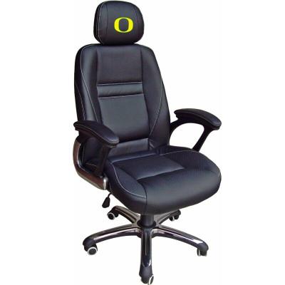 Oregon Ducks Leather Office Chair | Wild Sports | 901C-ORE