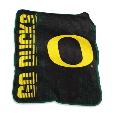 Oregon Ducks Raschel Throw Blanket | Logo Chair | 194-26B