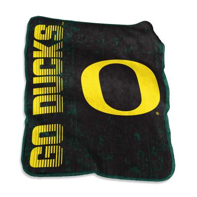Oregon Ducks Raschel Throw Blanket | Logo Chair | 194-26B