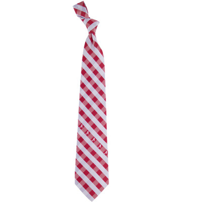 Alabama Crimson Tide Woven Poly Check Tie | Eagles Wings | 5145