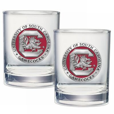 South Carolina Gamecocks Cocktail Glasses | Heritage Pewter | DOF10165E