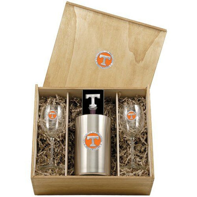 Tennessee Volunteers Wine Box Set | Heritage Pewter | WSB10115E