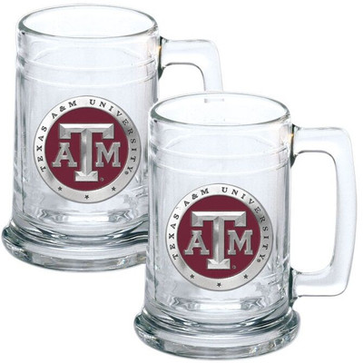 Texas A&M Aggies Beer Mug Set of Two | Heritage Pewter | ST10126ER