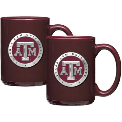 Texas A&M Aggies Coffee Mug Set of 2 | Heritage Pewter | CM10126ERBG