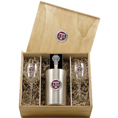 Texas A&M Aggies Wine Box Set | Heritage Pewter | WSB10126ER