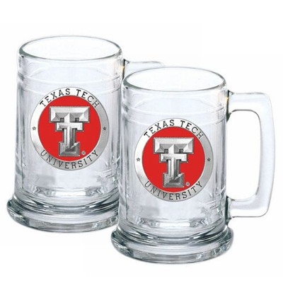 Texas Tech Red Raiders Beer Mug (Set of Two) | Heritage Pewter | ST10146E