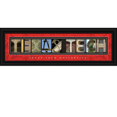 Texas Tech Raiders Campus Letter Art Print | Get Letter Art | CLAL1B22TXTC