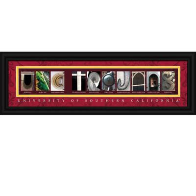USC Trojans Letter Art | Get Letter Art | CLAL1B22SCAL