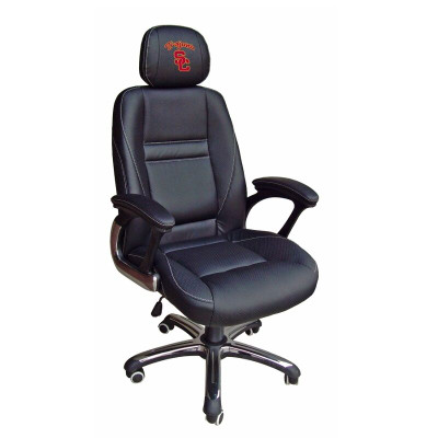USC Trojans Leather Office Chair | Wild Sports | 901C-USC