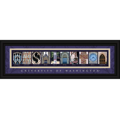 Washington Huskies Letter Art   Get Letter Art   CLAL1B22WASH
