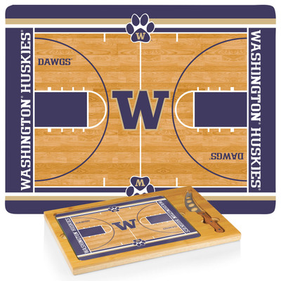Washington Huskies Icon Cheese Tray | Picnic Time | 910-00-505-625-0