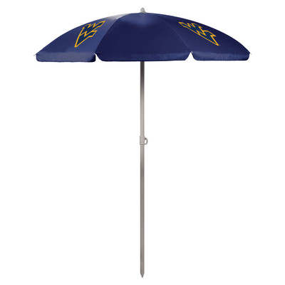 West Virginia Mountaineers Beach Umbrella | Picnic Time | 822-00-138-834-0