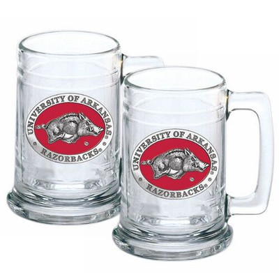 Arkansas Razorbacks Beer Mug Set of Two | Heritage Pewter | ST10255ER