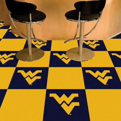 West Virginia Mountaineers Carpet Tiles | Fanmats | 8519