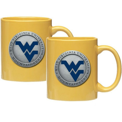 West Virginia Mountaineers Coffee Mug Set of 2 | Heritage Pewter | CM10205EBYL