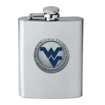 West Virginia Mountaineers Flask | Heritage Pewter | FSK10205EB
