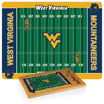 West Virginia Mountaineers Icon Cheese Tray | Picnic Time | 910-00-505-834-0
