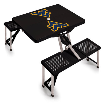 West Virginia Mountaineers Folding Picnic Table | Picnic Time | 811-00-175-834-0