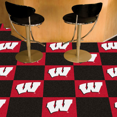 Wisconsin Badgers Carpet Tiles | Fanmats | 8518