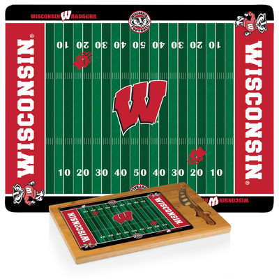 Wisconsin Badgers Icon Cheese Tray | Picnic Time | 910-00-505-644-0