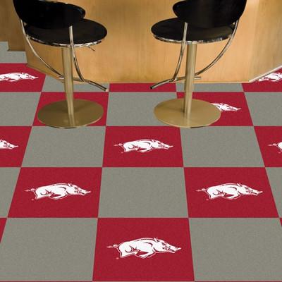 Arkansas Razorbacks Carpet Tiles | Fanmats | 8526
